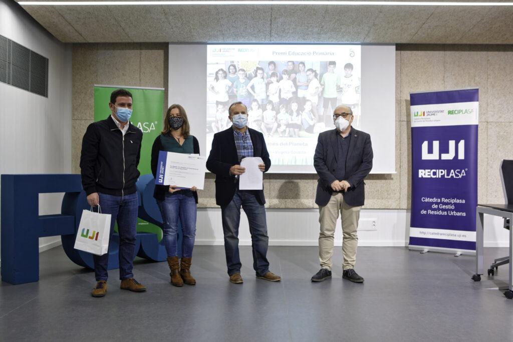 Premio al CEIP Lope de Vega de Nules en la categoria de educación primaria