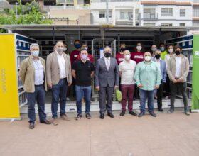 Martí y Garcia visitan el primer ecoparque móvil del consorcio C2 de residuos por el Día del Medio Ambiente
